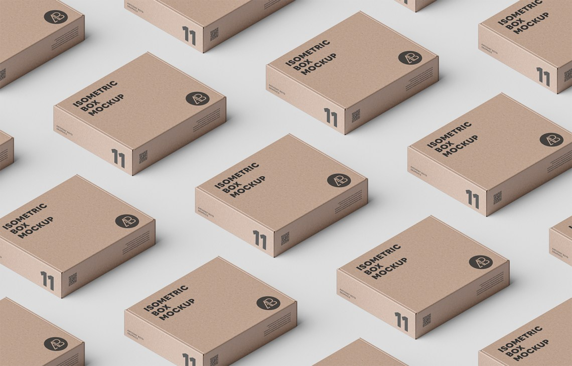 Download Box Grid PSD Packaging Mockup | Free Mockup