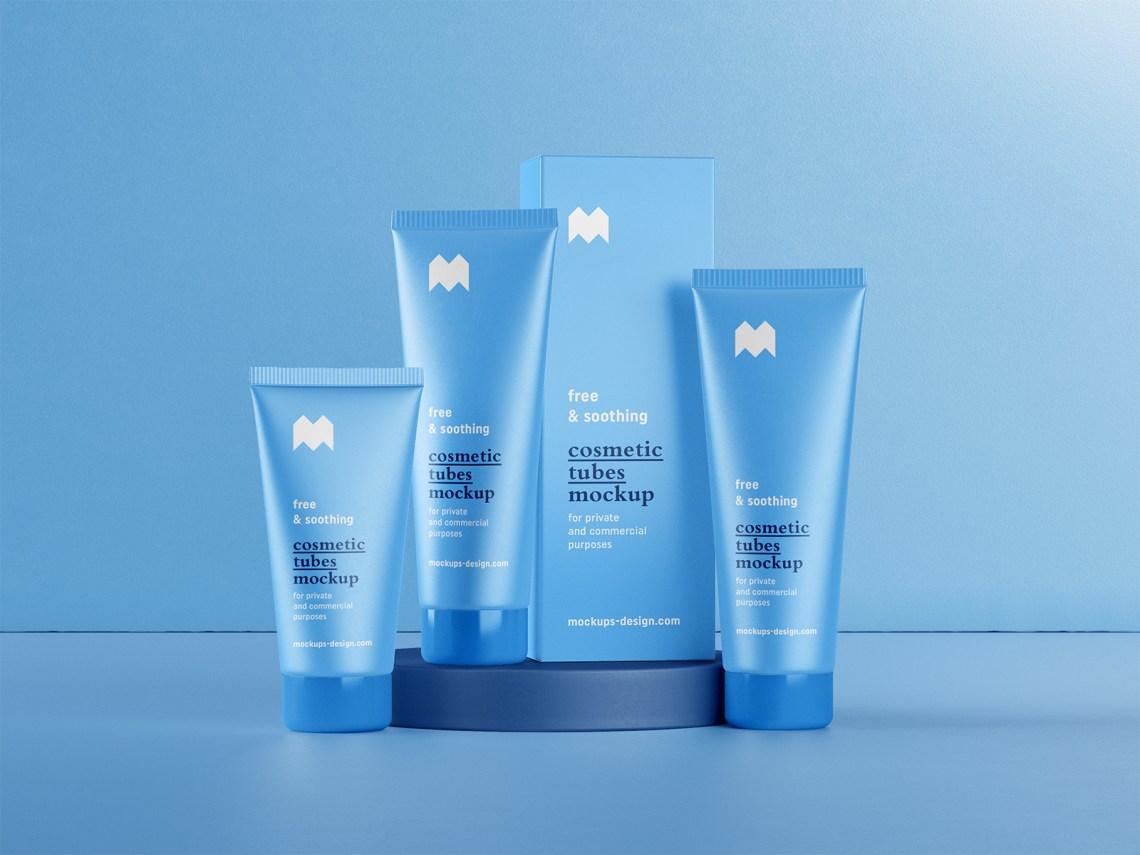 Download Cosmetic packaging mockup | Free Mockup