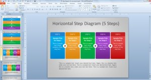 Free Steps Diagram for PowerPoint