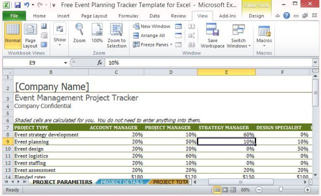 Event Project Plan Template Excel Free Download