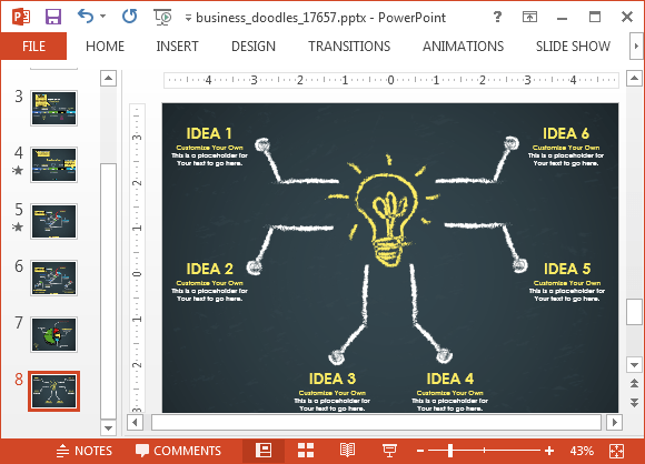 Animated Business Doodle Timeline Template For PowerPoint