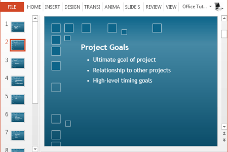 Free Project Plan PowerPoint Template Add your project goals