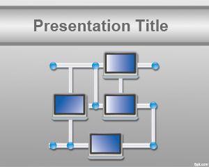 Network Template  network powerpoint template plantillas