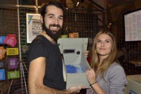 Pietro Ceciarini e Marta Carboni nel loro laboratorio della Scuderia