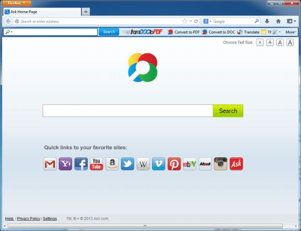 Ask toolbar free download