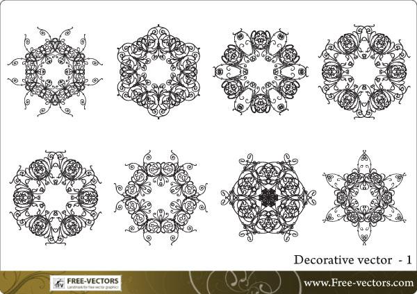 Free Decorative Ornaments Vector Download Free Vector Art Free Vectors