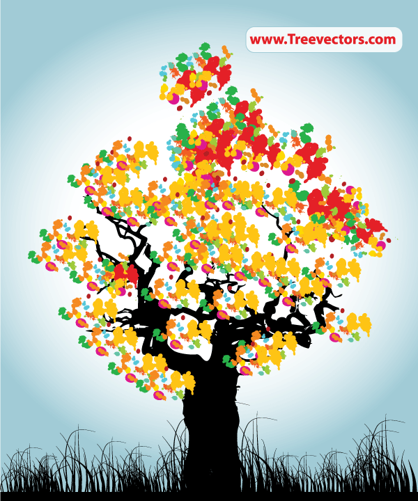 Abstract Tree Colorful Background Download Free Vector Art Free Vectors
