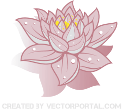 Vector Art Lotus Flower Image