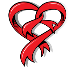 Vector Heart Shaped Ribbon