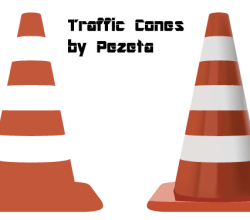 Vector Traffic Cones Illustration