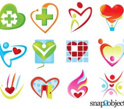 Free Heart Shaped Logo Templates Vector