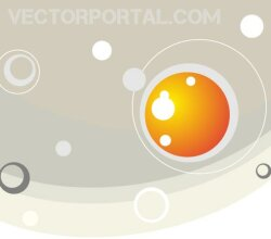 Abstract Background with Pastel Colors and Bubbles Vector