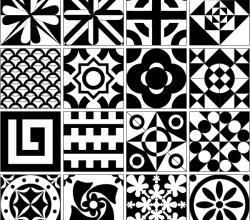 Tile Design Patterns Vector Resource