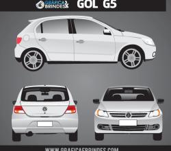 Volkswagen Gol Vector Art