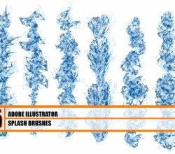 Hydronix – Water Splash Illustrator Brushes