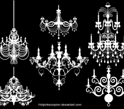 Vector Art Chandelier