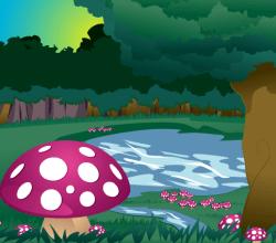 Mushroom Forest – Natural Landscape Scene