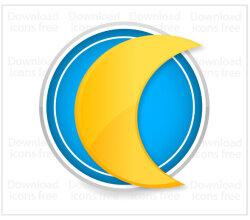 Free Vector Yellow Moon Icon