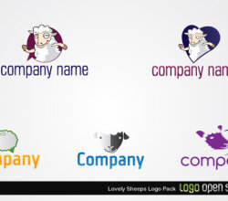 Lovely Sheeps Logo Pack