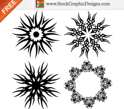 Beautiful Decorative Elements Free Vector Art Illustration