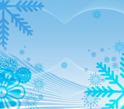 Abstract Snowflake Background Vector