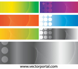 Colorful Halftone Banner Design Vector Art