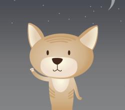 Meow Meow Cute Cat Cartoon