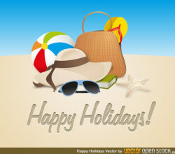 Happy Holidays Vector Art