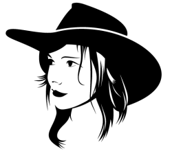 Free Cowgirl Vector Art