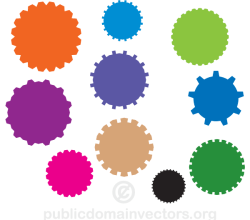 Gear Elements Vector Pack
