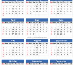 2016 Calendar Vector