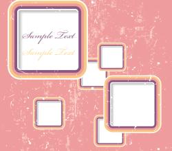 Retro Frame Background Illustrator