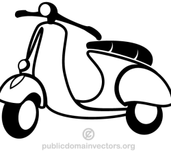 Vector Scooter Clip Art