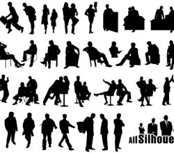 Business People Silhouettes Free Images