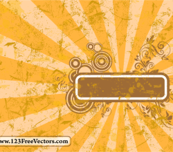 Sunburst Frame Vector