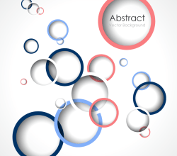 Overlapping Circles Vector Art Background Image