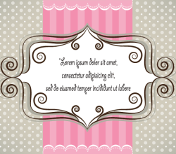Lovely Pink and Gray Card Design Vector Illustration