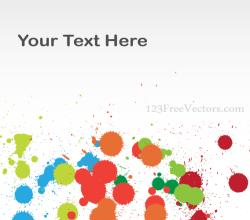 Vector Colorful Splashes Background Banner Design