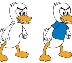 Fighting Duck Vector