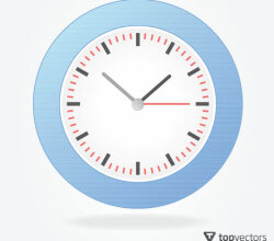 Simple Analog Clock Vector
