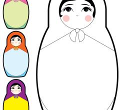 Vector Baboesjka – Matryoshka Doll