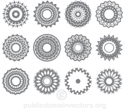 Vector Circle Ornaments