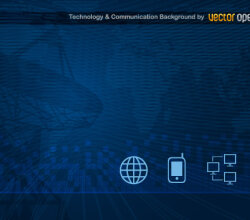 Technology and Communication Background Vector