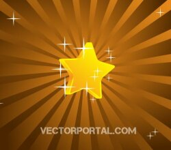 Retro Star Background Design Vector Graphics