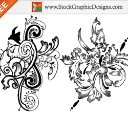 Hand Drawn Floral Free Vector Set