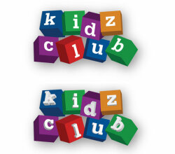 Vector Kids Club Blocks Logo
