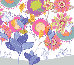 Color Floral Vector Design Free