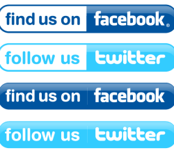Vector Facebook and Twitter Buttons