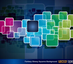 Fantasy Glossy Squares Background