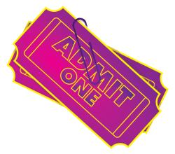Admit One Ticket Vector